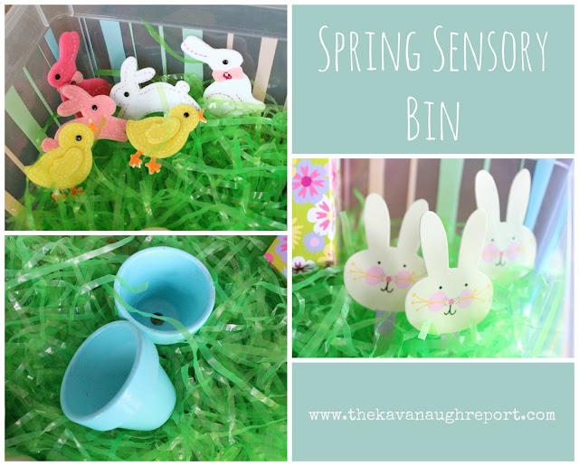 Montessori tot school spring sensory bin