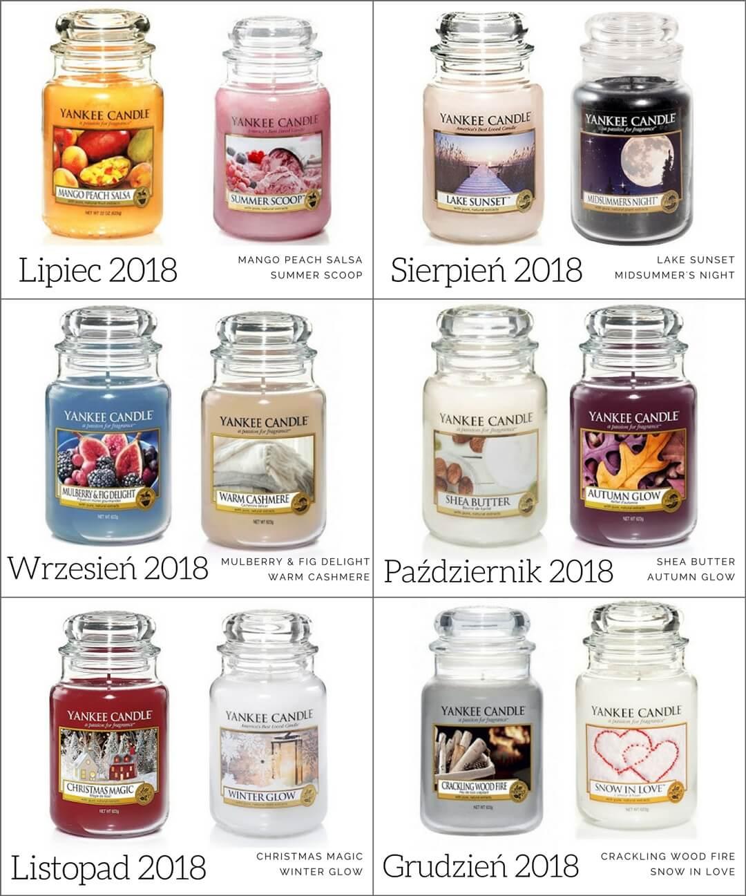 yankee candle zapach miesiąca 2018 II połowa