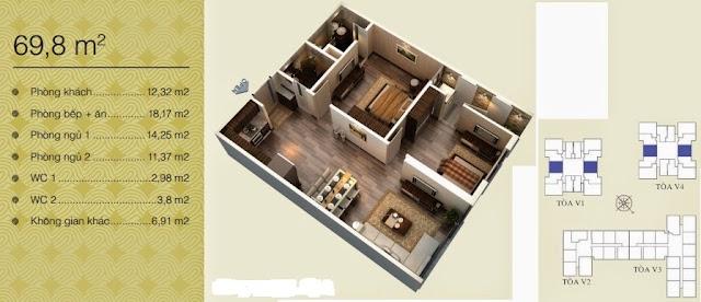Căn 69,8 m2