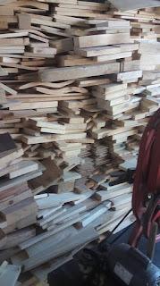 reciclar sobras de madera en la carpinteria