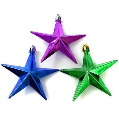 Hiasan Pohon Natal Bentuk Bintang