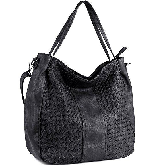 Women Handbags Top-Handle Fashion Hobo Tote Bags PU Leather Shoulder Satchel Bags