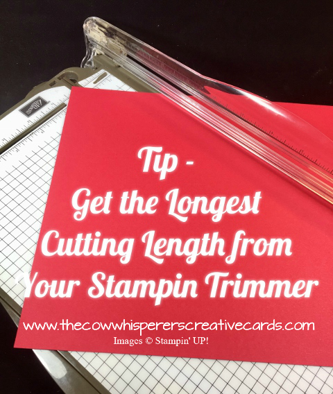 Tip, Stampin Trimmer, Longer Cut, StampinUP