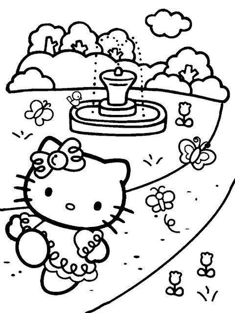 Gambar Mewarnai Hello Kitty - 9