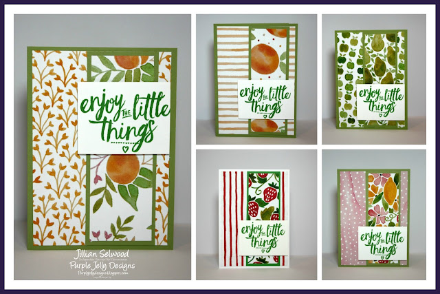 World Card Making day giveaway Enjoy the little things Fruit stand DSP pear pizzazz cardstock