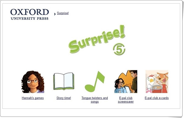 Surprise! Inglés de 5º Nivel de Educación Primaria. Editorial Oxford.