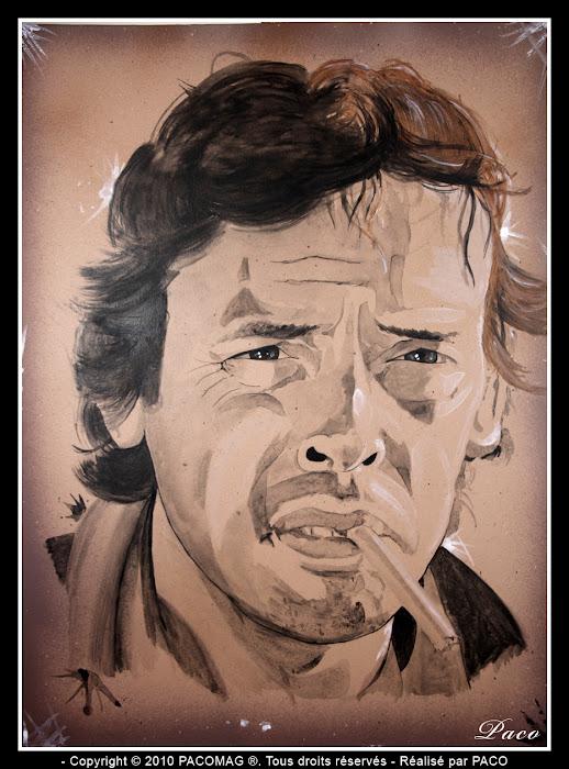 Portrait de Jacques Brel par Paco