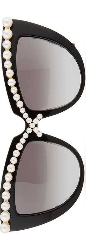 Anna-Karin Karlsson Pearl-Studded Cat-Eye Sunglasses