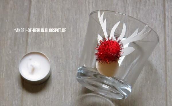 DIY-Rentier-Teelichtgläser