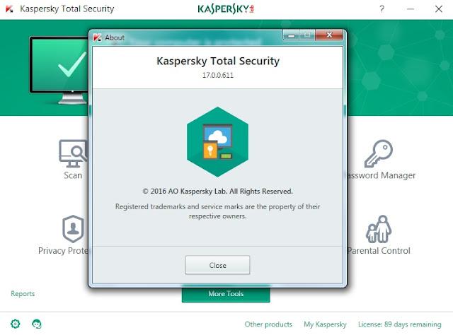 Kaspersky Total Security 2017 + รีเซทอายุ โปรแกรมป้องกัน กำจัด ไวรัส