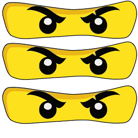 Dynamic image throughout ninjago eyes printable