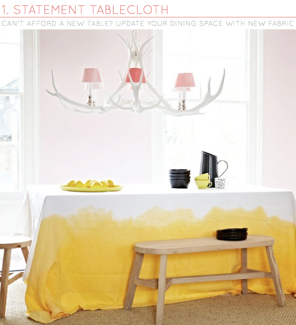 One Dining Room Three Different Ways: Three Ways: Adding Colour To Dining Rooms
