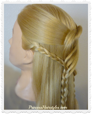Hairstyle for Prom or Homecoming. Swirling braids video tutorial.