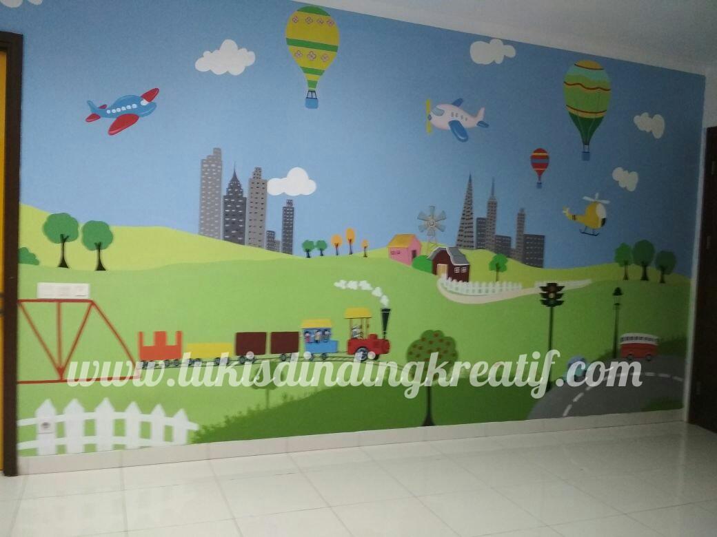 Lukis Dinding Tembok Cocok Untuk Tk Paud Dll Jasa Lukis Tembok Lukis Dinding Mural Kreatif Pelukis Tembok