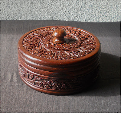 Vrksa Arts Amp Crafts Wood Carving Box Indian Traditional
