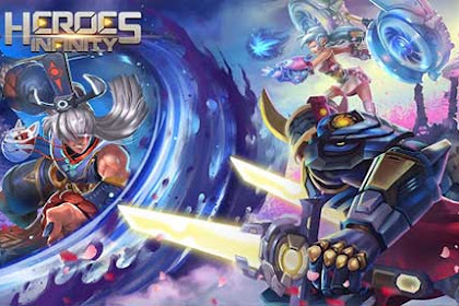 How to Download Game Heroes Infinity MOD Apk Unlimited Coin Gems for Android