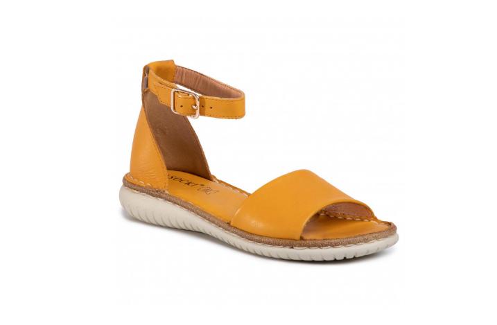 Sandale fara toc de zi cu zi galbene cu barete late Lasoki