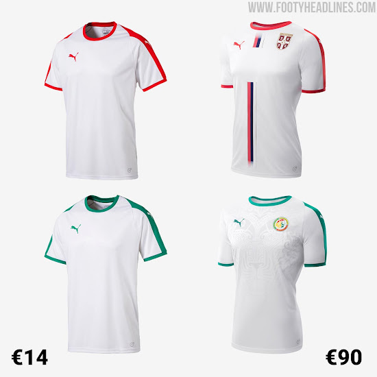 6f8cfc91c54 Shock ! Puma Serbia and Senegal 2018 World Cup Jerseys are Basic ...
