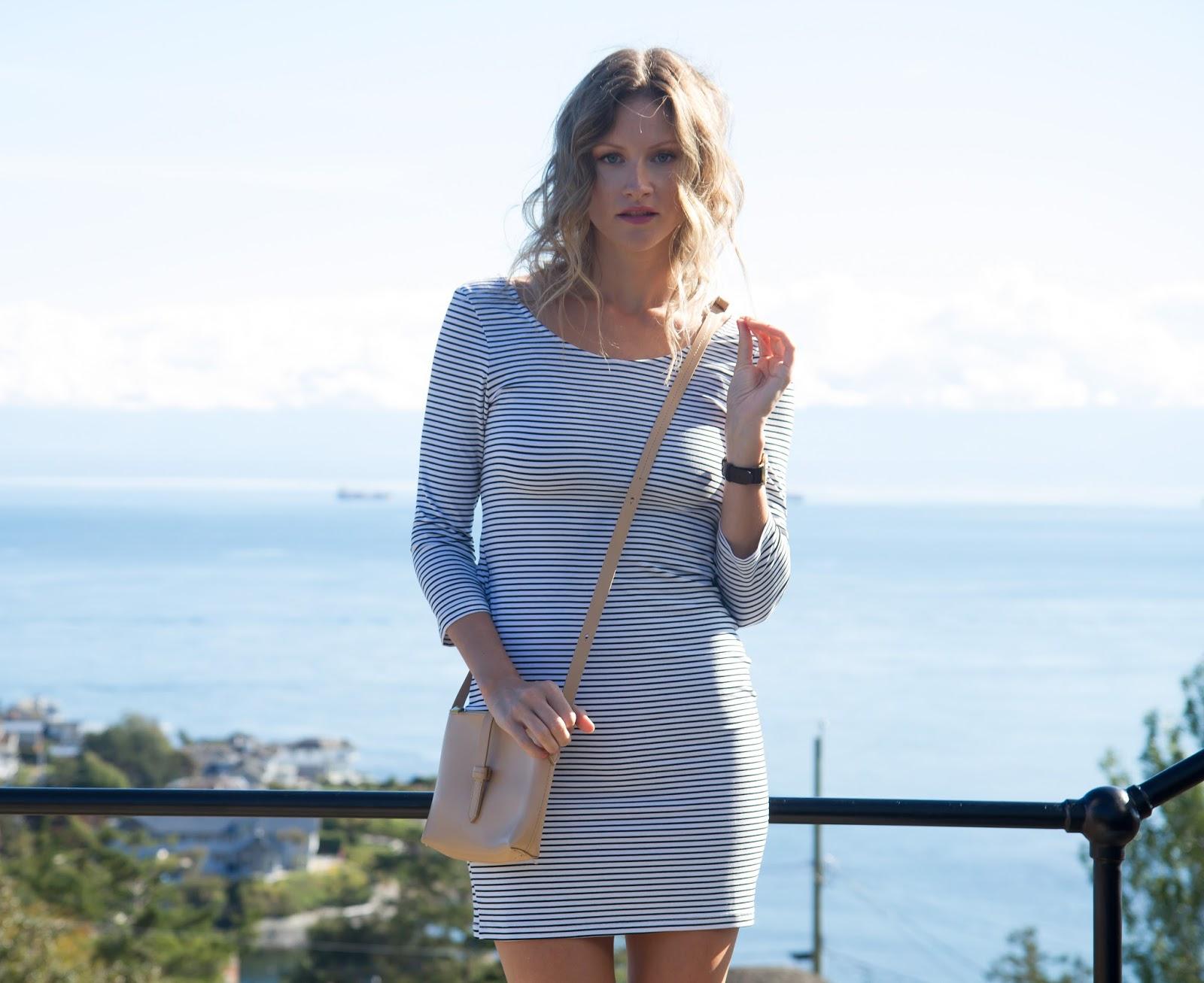 Fashion Blogger and Digital Nomad, Alison Hutchinson, in a Tobi Bodycon Dress