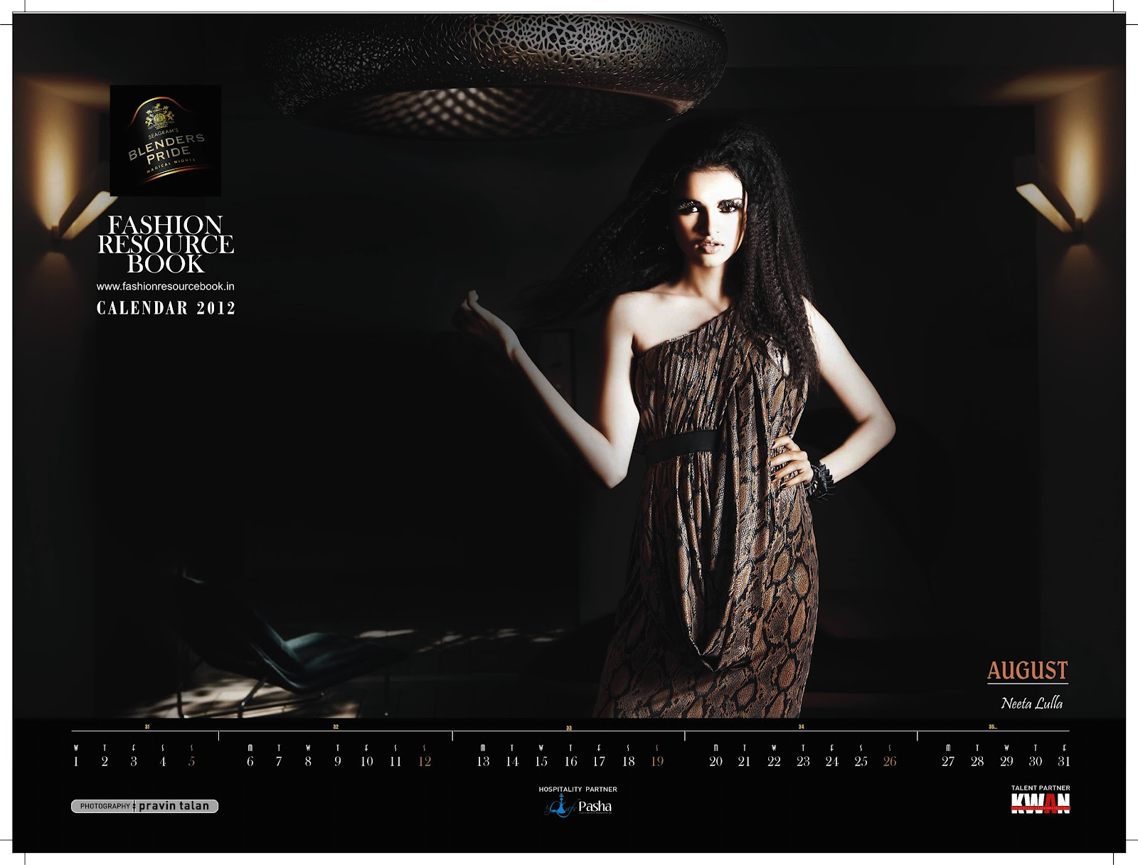 Blenders Pride Fashion Resource Book Calendar 2012