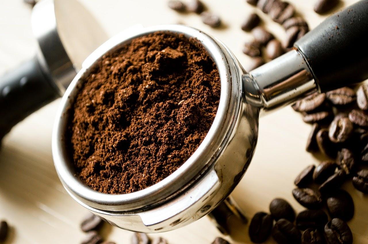 Ziarna kawy po zmieleniu