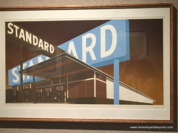 """Double Standard"" serigraph by Ed Ruscha at Amarillo Museum of Art in Amarillo, Texas"