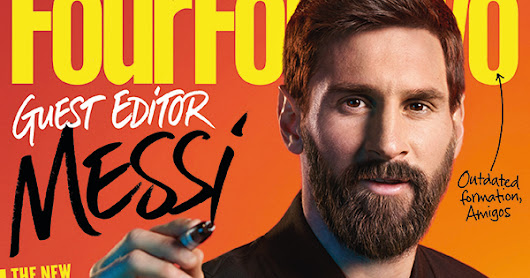Lettering for Four Four Two Magazine Messi Issue