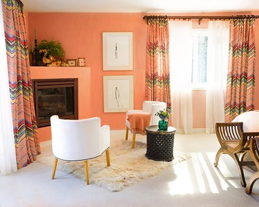 1 mes 1 color mayo es peach party the deco soul - Color salmon en paredes ...