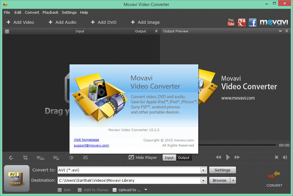 Movavi Video Converter 17.3.1 Crack With Activation Key 2017