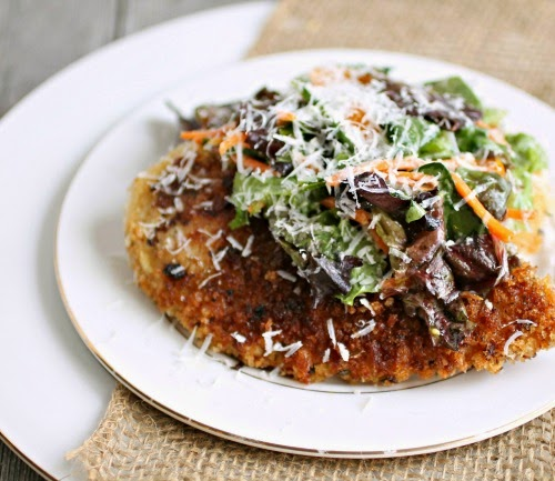 Chicken Milanese Topped with Crunchy Salad