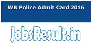WB Police Admit Card 2016