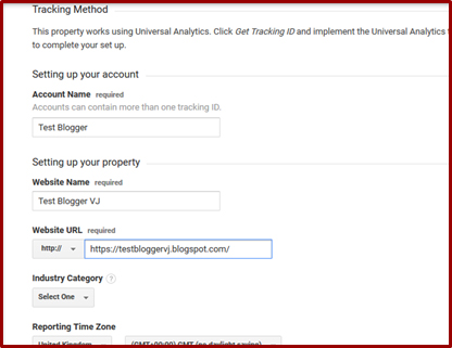 How to link a blog or website to Google Analytics in Telugu | Blogger VJ