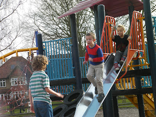playing games in playpark