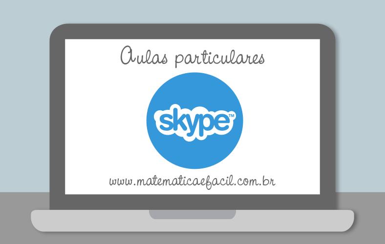 Aulas de Matemática via Skype para todo o Brasil