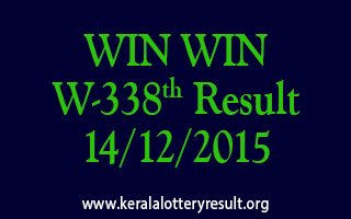 WIN WIN W 338 Lottery Result 14-12-2015
