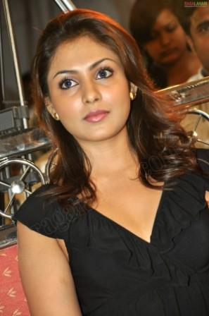 Cute Telugu Actress Madhu Shalini in black dress