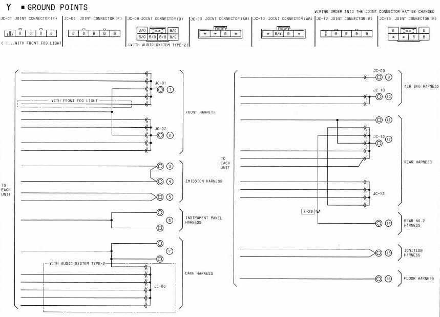 1994 Mazda Rx7 Audio System Type 1 Wiring Diagram electrical