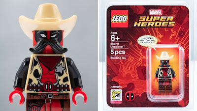 San Diego Comic-Con 2018 Exclusive Sheriff Deadpool Marvel LEGO Mini Figure