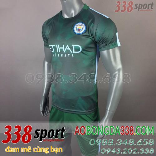 áo man city training xanh rêu
