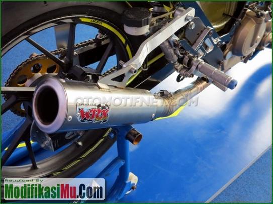 Knalpot Free Flow WRX - Video Cara Modifikasi All New Suzuki Satria F150 FI Sporty Untuk Balapan Terbaru Sederhana Tapi Keren