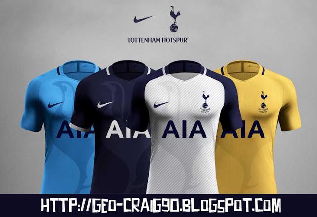 PES 2017 Tottenham Hotspurs Nike Aeroswift Kits 280637716