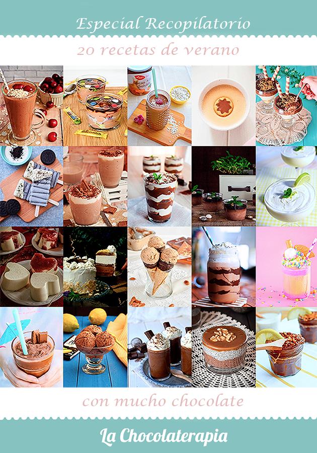 recetas verano chocolate helados batidos postres