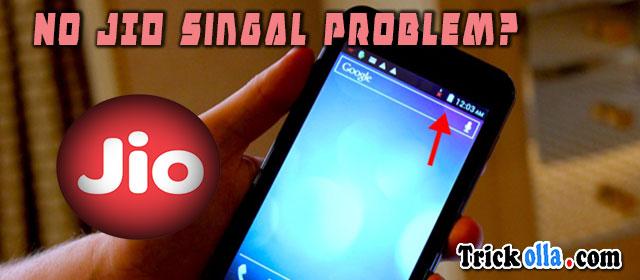 jio signal problem