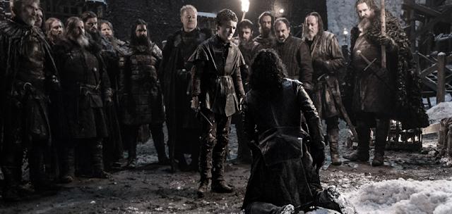 Moartea personajului Jon Snow din sezonul 5 al serialului Urzeala Tronurilor
