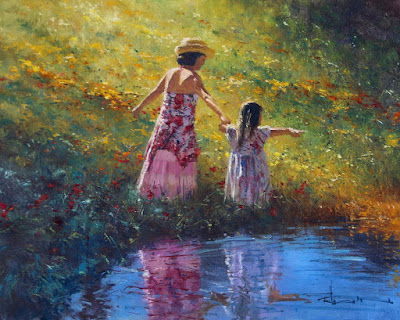 cuadros-mujeres-flores-playas
