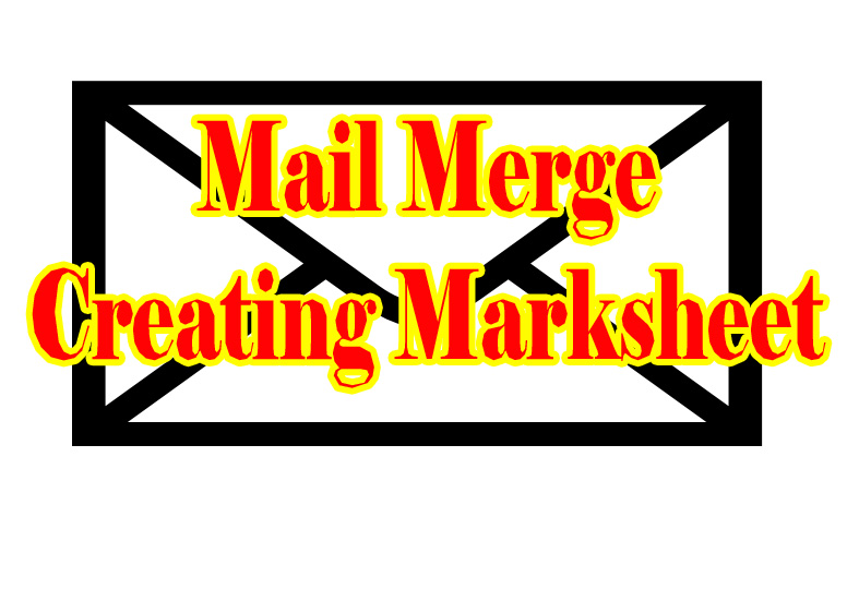 Creating Certificate in MS-Word Mail merge How to create