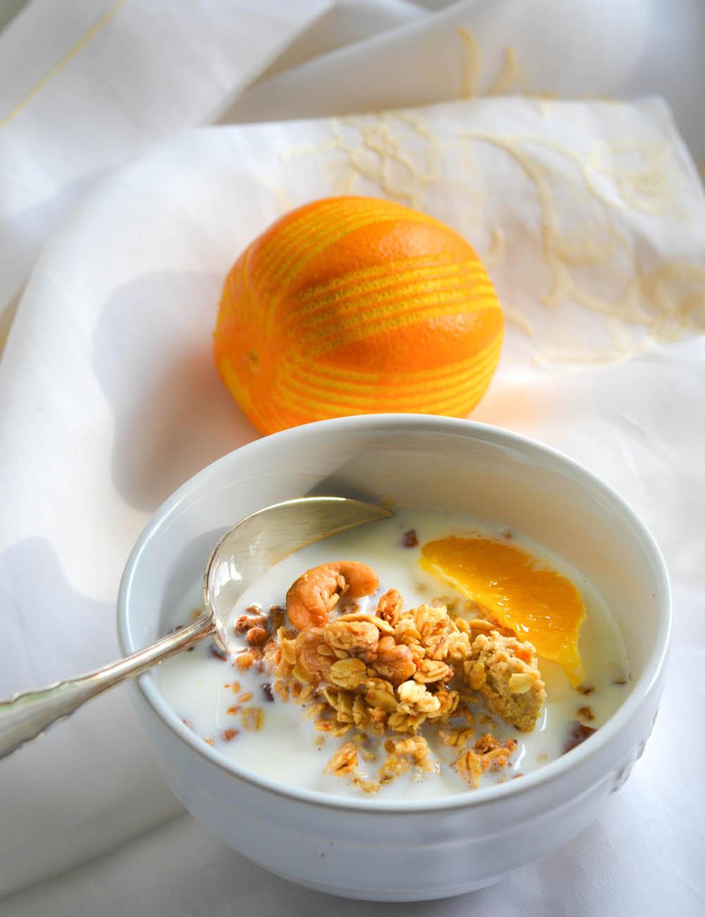Orangen Granola -  Sommer in der Schüssel