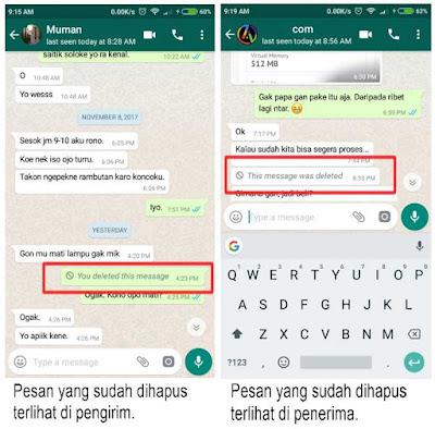 Cara Menghapus Pesan di WhatsApp