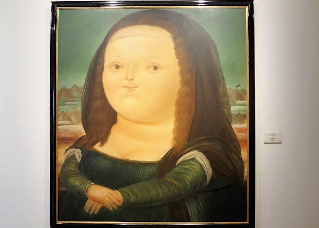 ボテロ博物館に飾られてあるボテロ作品『モナ・リザ』