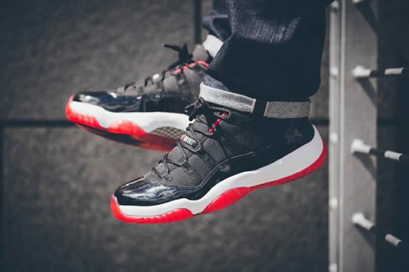 best sneakers e5849 261a8 AnpKick Brand Street Footwear  Air Jordan 11 Low  Bred  On Feet For Sale  Black Red Price 528895-012